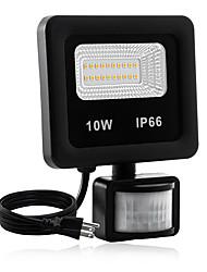 cheap -1pc 10 W LED Floodlight Waterproof / New Design / Motion Detection Monitor Warm White / White 85-265 V Courtyard / Garden 20 LED Beads