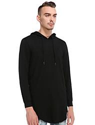 cheap -Men's Casual Hoodie - Solid Colored Black US32 / UK32 / EU40