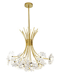 cheap -Candle-style / Empire / Geometrical Chandelier Ambient Light Painted Finishes Metal Crystal, Creative, New Design 220-240V