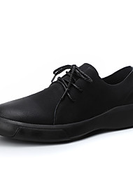 cheap -Men's Comfort Shoes PU Fall Oxfords Black / Brown / Party & Evening / Party & Evening