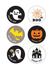 Недорогие -60 шт. Хэллоуин бумажные наклейки праздничные украшения партии запечатывания стикер хэллоуин поставки 3.7 см