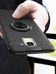 cheap -Luxury Car Magnetic Ring Soft Silicone Case For Samsung Galaxy J6 Plus 2018 J6 2018 Full Cover For Samsung Galaxy J8 2018 J4 Plus 2018 J4 2018 TPU Shockproof Bumper Case