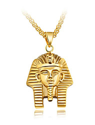 cheap -Men's Pendant Necklace Byzantine Faith Ancient Egypt Titanium Steel Gold Silver 55 cm Necklace Jewelry 1pc For Gift School Street Club Promise