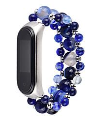 cheap -Watch Band for Mi Band 3 / Xiaomi Band 4 Xiaomi Jewelry Design Elastic Beaded Wrist Strap