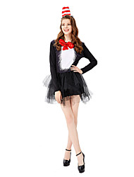 cheap -Magic Women Cosplay Costume Masquerade Adults' Women's Cosplay Halloween Halloween Festival / Holiday Tulle Satin Black Women's Carnival Costumes