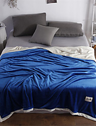 cheap -Bed Blankets, Solid Colored Polyester Comfy Blankets