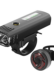 cheap -LED Bike Light Rechargeable Bike Light Set Front Bike Light Rear Bike Tail Light Mountain Bike MTB Bicycle Cycling Waterproof Multiple Modes Smart Induction Light Sensor 18650 CR2032 250 lm / USB