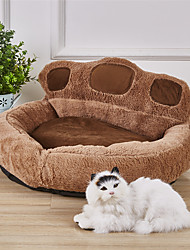 cheap -Dogs Rabbits Cats Mattress Pad Bed Beds Bed Blankets Mats & Pads Fabric Plush Fabric Plush Color Block Khaki