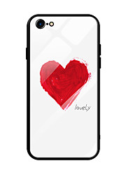 cheap -Case For Apple iPhone 6s Plus / iPhone 6 Plus Ultra-thin / Pattern Back Cover Heart Tempered Glass