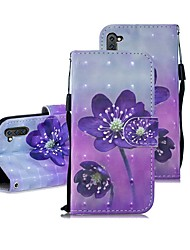cheap -Case For Samsung Galaxy Note 9 / Note 8 / Galaxy Note 10 Wallet / Card Holder / Shockproof Full Body Cases Flower PU Leather