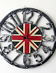 cheap -Wall Clock,Modern Contemporary Fashion Wooden Round Indoor