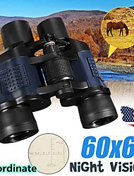 cheap -60x60 Binocular with Coordinates Night Vision Binoculars High-powered High-definition Green Film Telescope