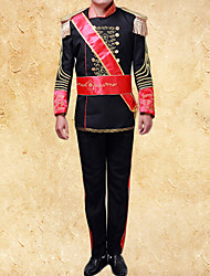 cheap -Adults' Men's Cosplay Retro Medieval Cosplay Costume Outfits For Party Halloween Festival Polyster Halloween Carnival Masquerade Coat Pants Sash / Ribbon