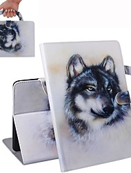 cheap -Case For iPad Air / iPad 4/3/2 / iPad (2018) Wallet / Card Holder / Shockproof Full Body Cases Wolf  PU Leather Case For iPad Air 2 / iPad (2017) / iPad Pro 9.7