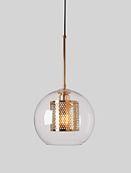 cheap -1-Light CONTRACTED LED® Globe Pendant Light Ambient Light Electroplated Glass Glass Creative 110-120V / 220-240V