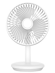 cheap -D76 6-inch Quiet Portable Indoor 4-Speed Desk Fan Angle-adjustable Low Noise USB Rechargeable