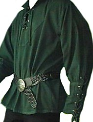 cheap -Medieval Renaissance Masquerade Men's Costume Black / Wine / Green Vintage Cosplay Party / Top / Top