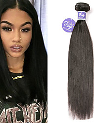 cheap -3 Bundles Brazilian Hair Straight Remy Human Hair 100% Remy Hair Weave Bundles Natural Color Hair Weaves / Hair Bulk Extension Bundle Hair 8-28 inch Natural Human Hair Weaves Adorable Best Quality