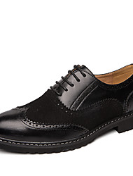 cheap -Men's Dress Shoes PU Spring & Summer / Fall & Winter Casual Oxfords Walking Shoes Breathable Black / White