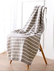 cheap -Superior Quality Bath Towel, Striped Cotton / Linen Blend Bathroom 1 pcs