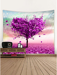cheap -Valentine's Day Wall Tapestry Art Decor Blanket Curtain Hanging Home Bedroom Living Room Decoration Rose Flower Heart Tree