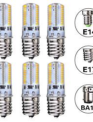 cheap -6pcs 3 W LED Corn Lights 300 lm E14 E17 BA15D T 64 LED Beads SMD 3014 Warm White White 220-240 V 110-120 V