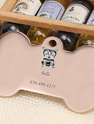 cheap -Personalized Customized Schnauzer Dog Tags Classic Gift Daily 1pcs Gold Silver Rose Gold