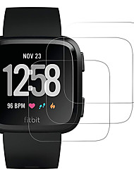 cheap -3 PCS Screen Protector for Fitbit Versa/ Versa Lite Tempered Glass Transparent High Definition (HD) Scratch Proof/9H Hardness