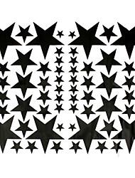 Недорогие -звезды шаблон автомобиля декоративные наклейки черный виниловое стекло окна стены спальни бампер ноутбук наклейка