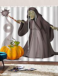Недорогие -3d цифровая печать мультфильм шторы счастливый хэллоуин тыква старик 100% полиэстер затемнение фона занавес