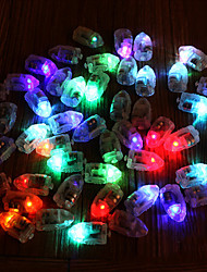 cheap -12Pcs Mini Colorful Bullet Balloon Lights LED Flash Lamps Paper Lantern Wick Plastic Glow Flash Wedding Party Decoration