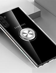abordables -Coque Pour Samsung Galaxy Note 9 / Note 8 / Galaxy Note 10 Anneau de Maintien Coque Transparente TPU / Métal