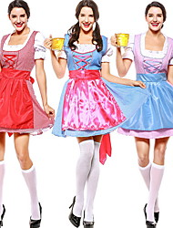 cheap -Bavarian Costume Women's Christmas Halloween Performance Theme Party Costumes Women's Dance Costumes Polyester Lace-up