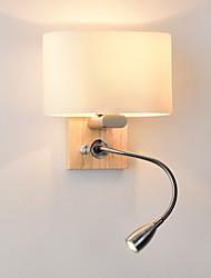 Недорогие -нордический стиль привел крытый настенный светильник гостиная спальня спальня настенный светильник для настенного монтажа скрытого монтажа с поворотными кронштейнами светодиодный прожектор белого