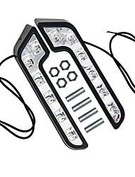 abordables -2pcs 6led conduite lampe antibrouillard drl jour feux diurnes blanc pour auto voiture 12 v super lumineux étanche voiture style