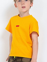 cheap -Kids Boys' Basic Solid Colored Short Sleeve Tee Yellow
