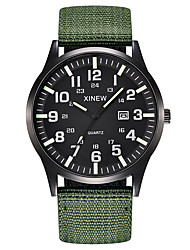 cheap -Men's Sport Watch Quartz Nylon Black / Blue / Brown No Calendar / date / day Chronograph New Design Analog Outdoor New Arrival - Black Green Black / Green One Year Battery Life