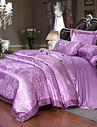 cheap -European satin jacquard lace  Sheets 4 piece Bedding Set