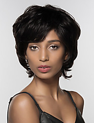 cheap -Human Hair Wig Short Deep Wave Havana Bob Layered Haircut Silver Black Life Classic Women Capless Vietnamese Hair Burmese Hair All Unisex Black#1B Dark Wine