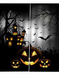 abordables -personnalité originale rideaux pour chambre / salon halloween thème d'horreur occultation rideaux personnalisés anti-poussière
