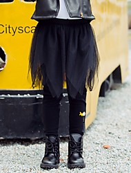 cheap -Kids Girls' Solid Colored Leggings Black