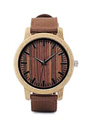 cheap -Men's Dress Watch Japanese Quartz woven Fashion Casual Watch Analog Brown / Two Years / Wood / Two Years