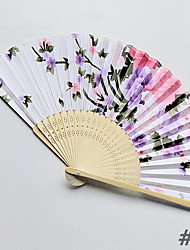 cheap -4pcs Bamboo Printing Folding Hand Fans Wedding Favours Wedding Supplies Gift 21cm Long