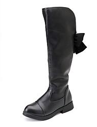 cheap -Girls' Combat Boots PU Boots Little Kids(4-7ys) Black Winter / Over The Knee Boots