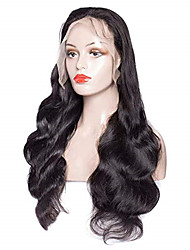 cheap -Remy Human Hair Full Lace Wig Side Part style Brazilian Hair Body Wave Black Wig 150% Density Women's Long Human Hair Lace Wig beikashang