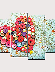 cheap -Print Rolled Canvas Prints - Still Life Hearts Classic Modern Four Panels Art Prints