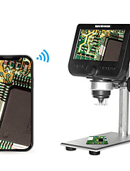 cheap -2.0MP Multifunctional Wireless 4.3 Inch Display Screen Digital Microscope with 8 Adjustable Brightness LED Lights Metal Bracket