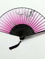cheap -Hand Fans Silk Cloth Split Joint Wedding