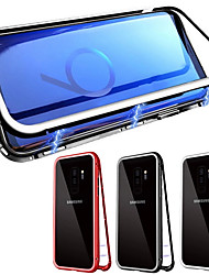 cheap -Case For Samsung Galaxy Galaxy S10 / Galaxy S10 Plus Magnetic Full Body Cases Solid Colored Tempered Glass