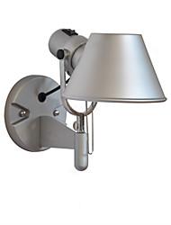 Недорогие -Бра современный простой настенный бра ткань абажур регулируемый спальня свет для чтения ночник с ручкой серебро с на выключатель